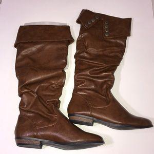 Madden Girl cognac boots